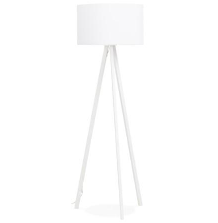 Lampadaire trépied 'SPRING' avec abat-jour blanc et 3 pieds blancs