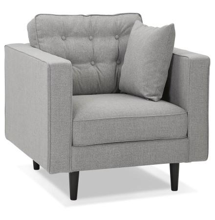 Fauteuil de salon 1 place 'STAGU MICRO' en tissu gris clair