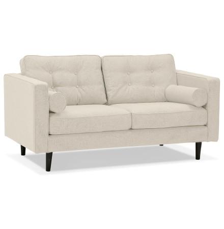 Canapé droit design 'STAGU' en tissu beige - Canapé 2 places