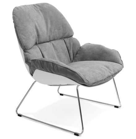 Fauteuil lounge STARTUP gris clair en tissu - Alterego