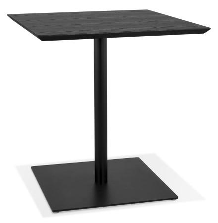 Table carrée design 'SUMO' en bois et métal noir - 70x70  cm