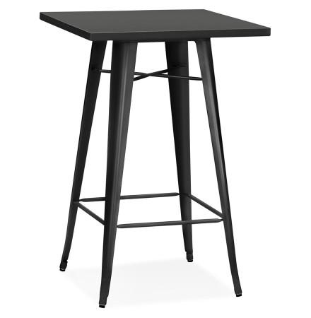 Table haute style industriel 'TATY' noire - 70x70 cm