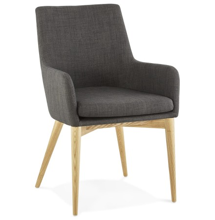 Chaise avec accoudoirs TEOPHIL style scandinave - Alterego
