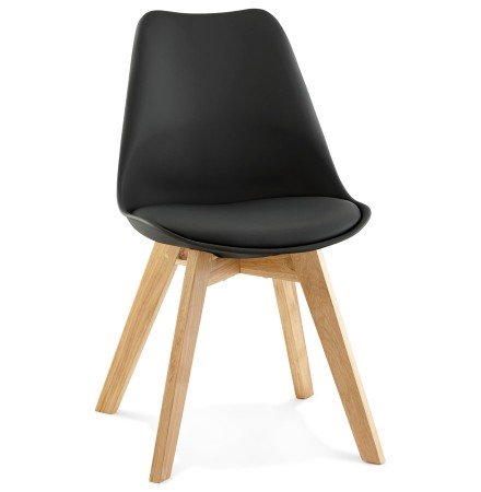 Chaise moderne TEKI noire - Alterego