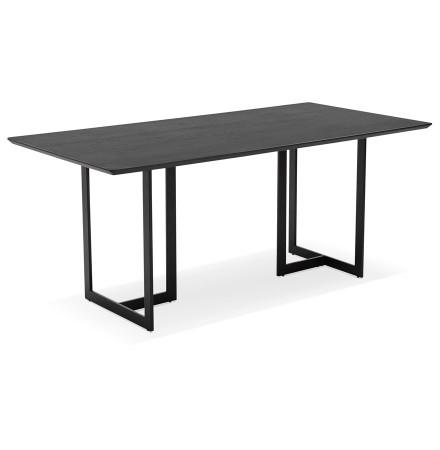 Table à diner / bureau design 'TITUS' en bois noir - 180x90 cm