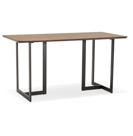 Table à diner / bureau design 'TITUS' en bois de noyer - 150x70 cm