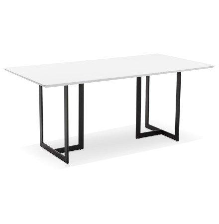 Table à diner / bureau design TITUS en bois blanc - 180x90 cm - Alterego