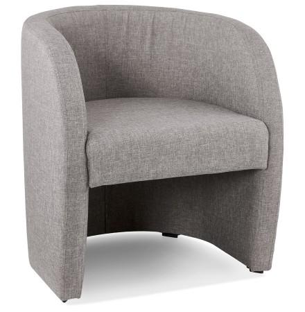 Fauteuil de salon design 1 place 'TOM' en tissu gris