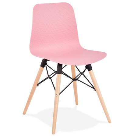 Chaise scandinave 'TONIC' rose design