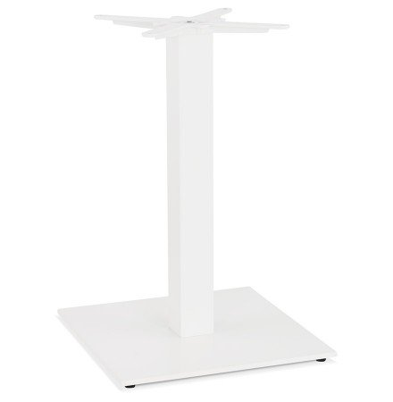 pied de table carr tower 75 en m tal blanc int rieur ext rieur. Black Bedroom Furniture Sets. Home Design Ideas