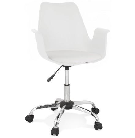Chaise de bureau avec accoudoirs 'TRIP' blanche design
