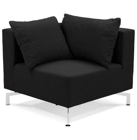 Élément de canapé modulable 'VOLTAIRE CORNER' noir - coin de canapé