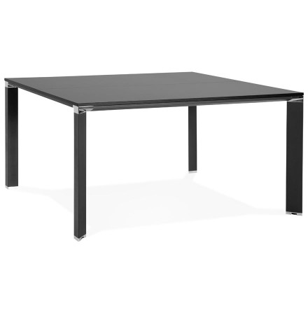 Table de réunion / bureau bench 'XLINE SQUARE' noir - 140x140 cm