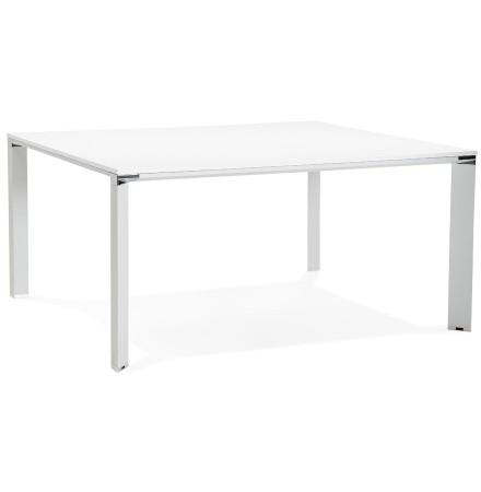 Table de réunion / bureau bench 'XLINE SQUARE' blanc - 160x160 cm