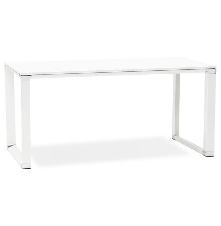 Bureau de direction droit design 'XLINE' en bois blanc