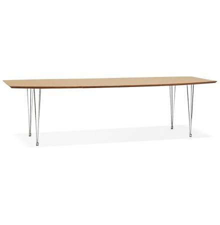 Table à dîner / de réunion extensible 'XTEND' en bois finition naturelle - 170(270)x100 cm