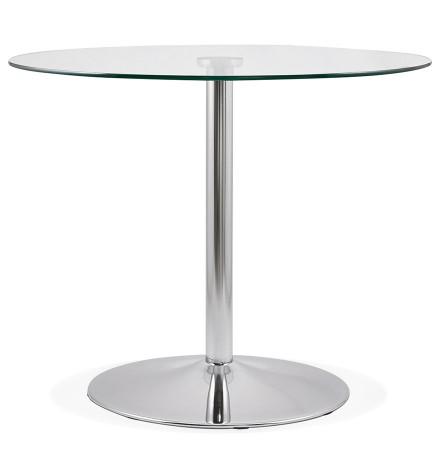 Petite table de cuisine ronde YOUPI en verre - Alterego