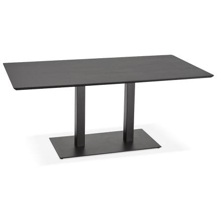 Table / bureau design 'ZUMBA' noir - 180x90 cm