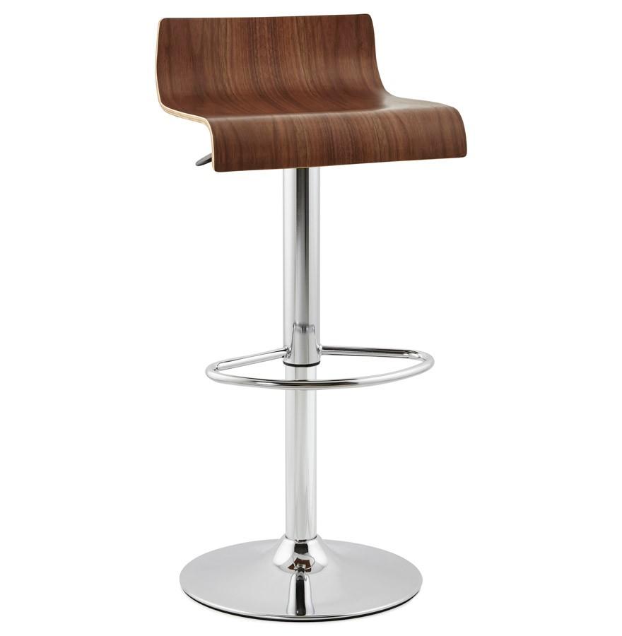 tabouret r glable amazonia tabouret de bar en bois finition noyer. Black Bedroom Furniture Sets. Home Design Ideas
