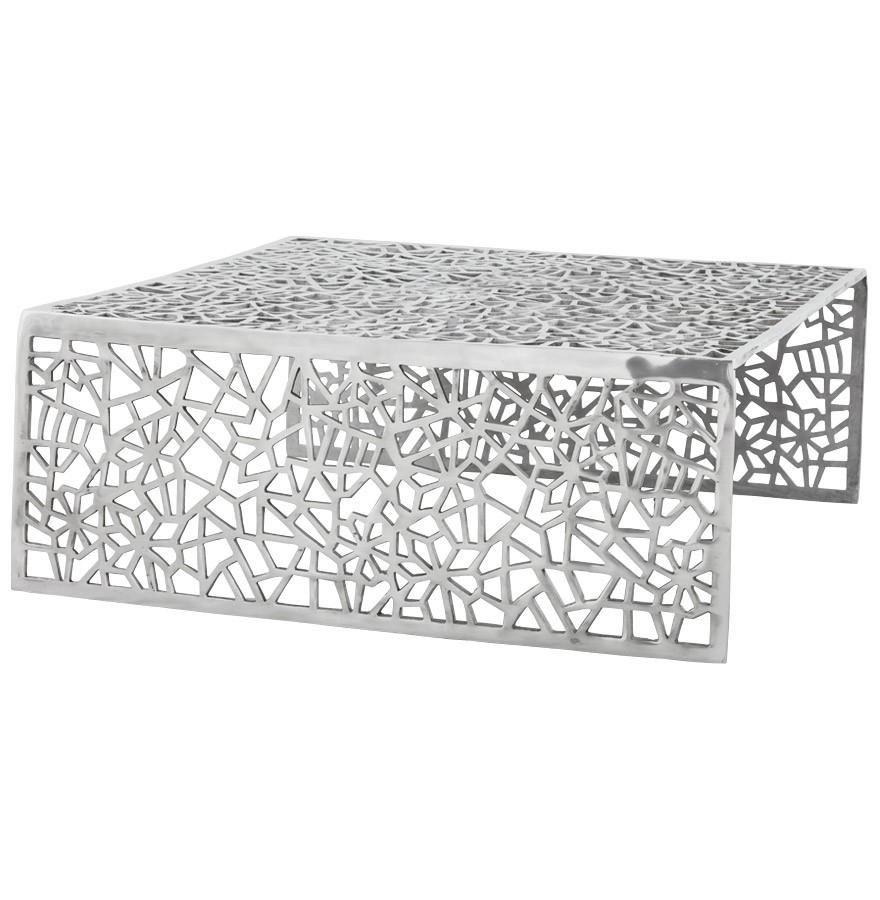 table basse de salon aranea en aluminium table design. Black Bedroom Furniture Sets. Home Design Ideas