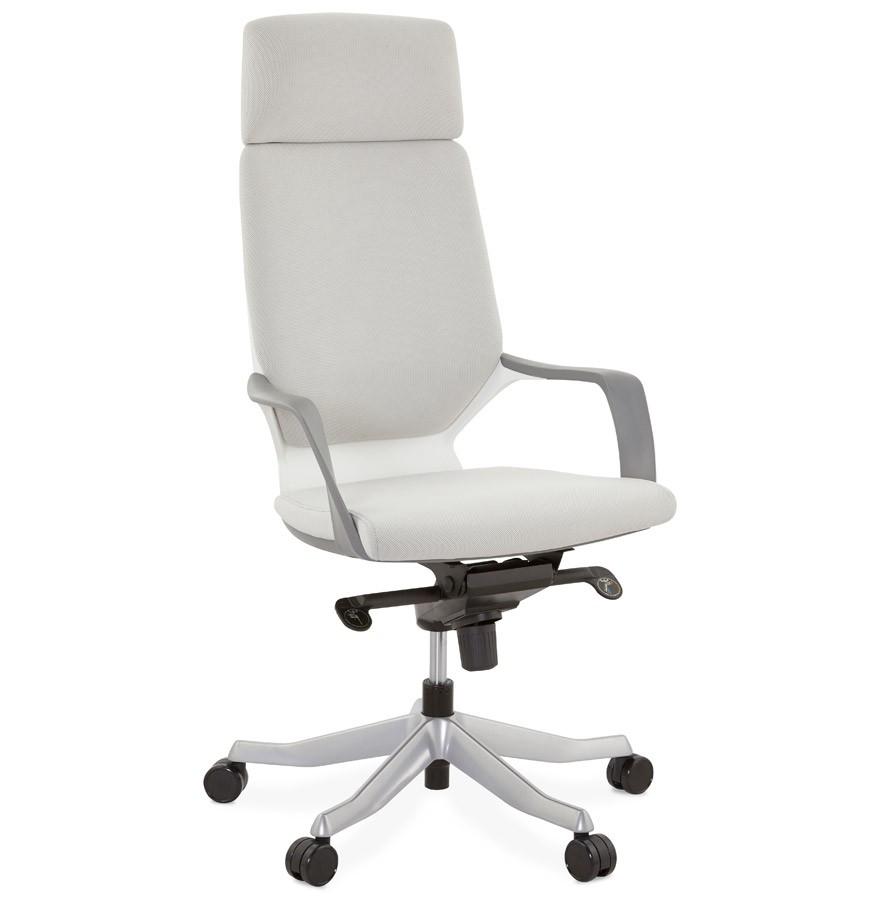 Fauteuil de bureau design babel en tissu gris - Fauteuil de bureau design ...
