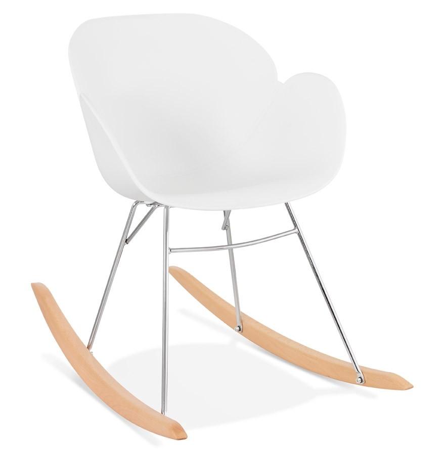 Chaise  bascule design BASKUL blanche en mati¨re plastique