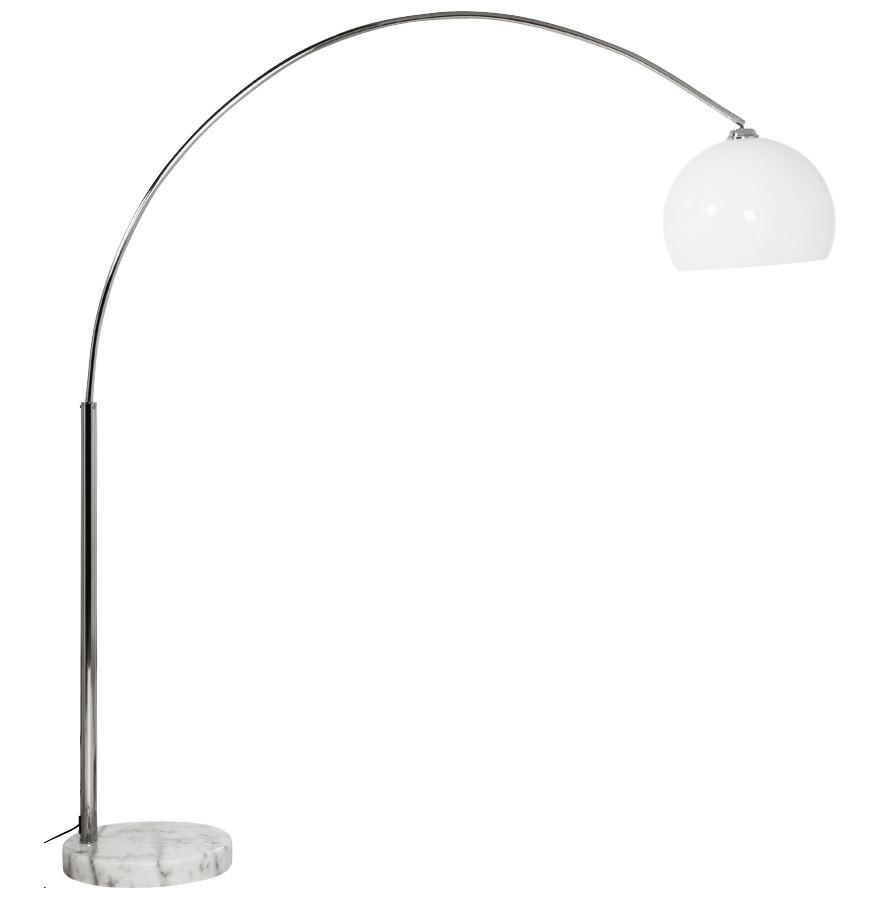 lampadaire en arc big bow xl abat jour blanc. Black Bedroom Furniture Sets. Home Design Ideas