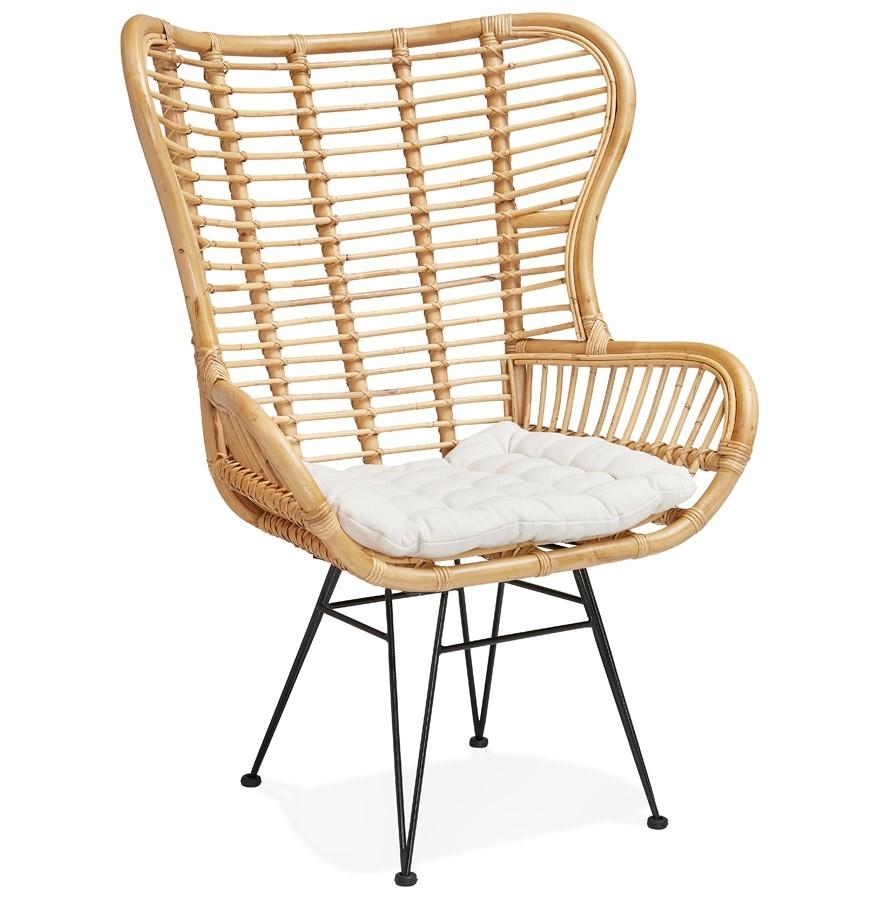 fauteuil oreilles bolivo en rotin fauteuil design. Black Bedroom Furniture Sets. Home Design Ideas