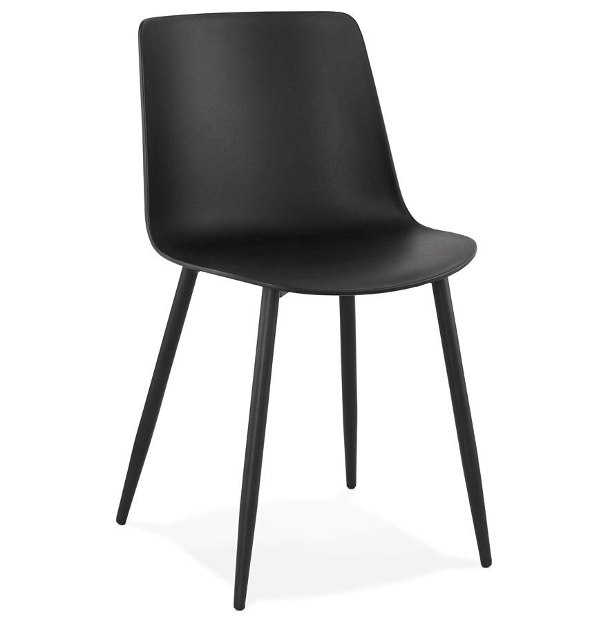 chaise de cuisine brenda noire chaise moderne. Black Bedroom Furniture Sets. Home Design Ideas