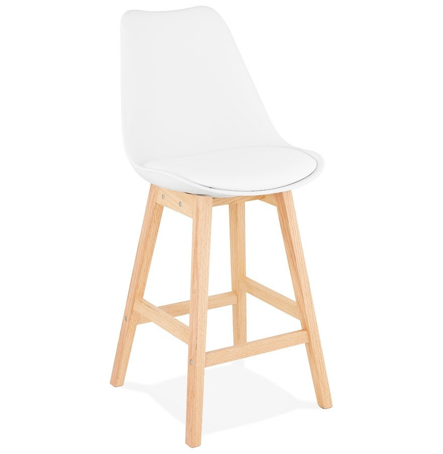 tabouret snack mi hauteur camila mini blanc style scandinave. Black Bedroom Furniture Sets. Home Design Ideas