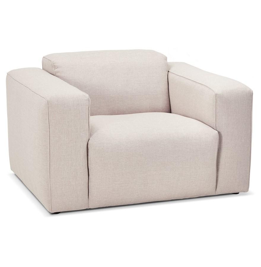 fauteuil de salon 1 place canyon micro beige canap design. Black Bedroom Furniture Sets. Home Design Ideas