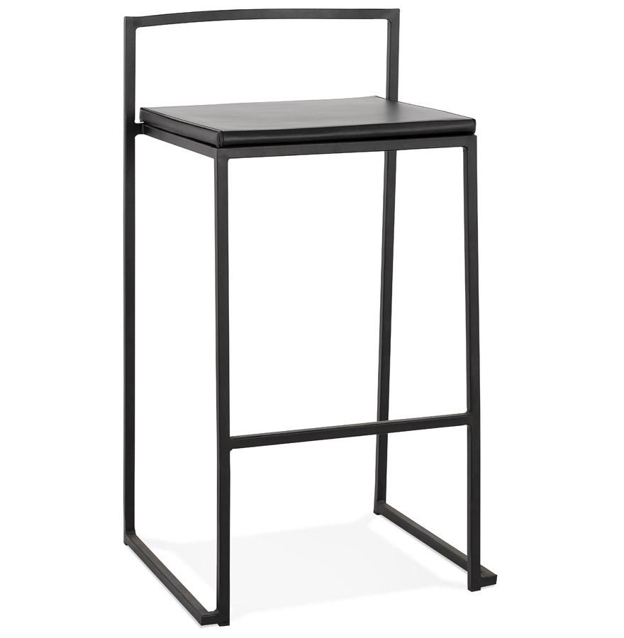 Meuble Mini Bar D Angle tabouret snack mi-hauteur 'casa mini' noir au design industriel empilable
