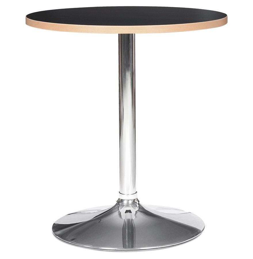 Table Ronde Casto Round Noire Table De Restauration O 80 Cm