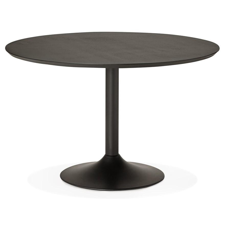 table diner ronde chef en bois noir table de bureau. Black Bedroom Furniture Sets. Home Design Ideas