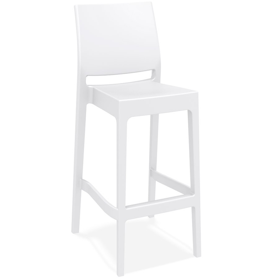 Extérieur Tabouret Bar Blanc Intérieur De 'clara' Empilable 80mNnvwO