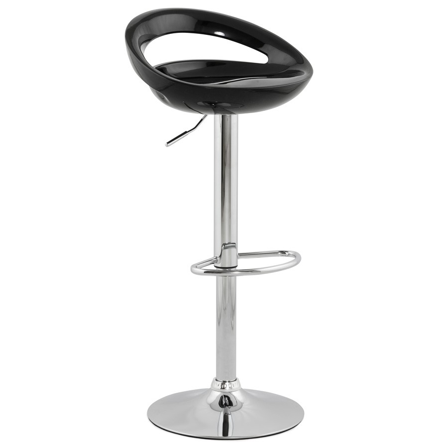 tabouret de bar design comet noir r glable avec dossier. Black Bedroom Furniture Sets. Home Design Ideas