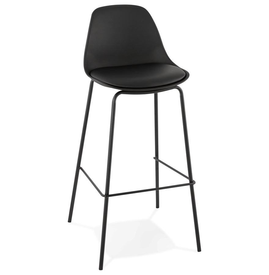 tabouret de bar cookie noir style industriel tabouret design. Black Bedroom Furniture Sets. Home Design Ideas