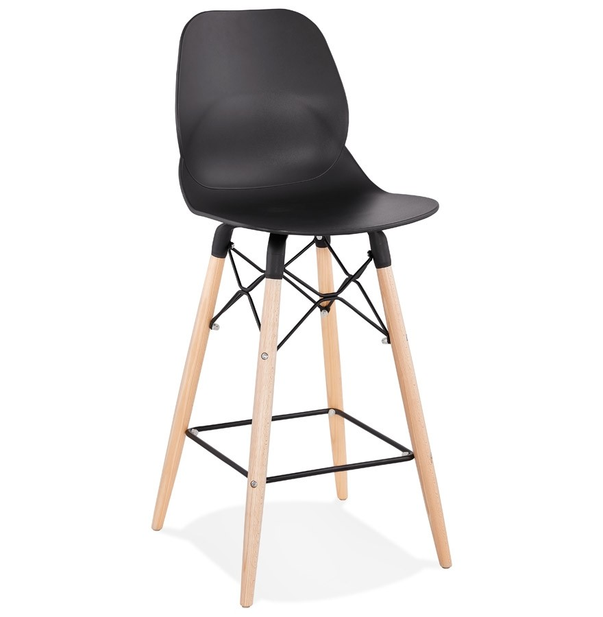 tabouret snack mi hauteur cosmik mini noir style scandinave. Black Bedroom Furniture Sets. Home Design Ideas