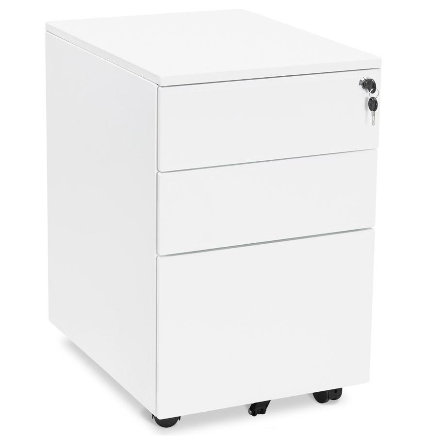 Caisson de rangement DALI blanc tiroirs pour bureau