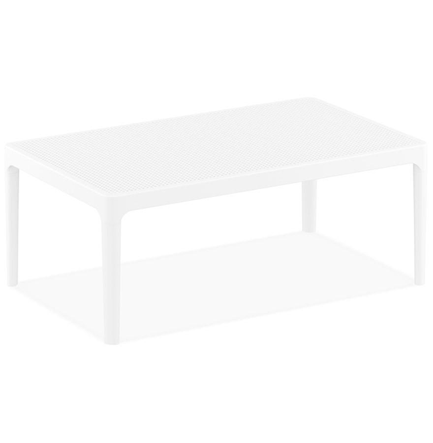 Table basse de jardin \'DOTY\' blanche design - 100x60 cm