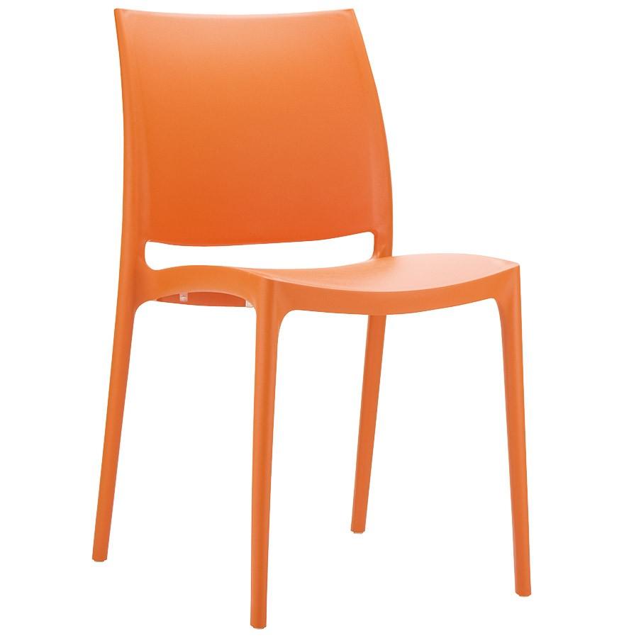 chaise design enzo orange - Chaise Design Plastique