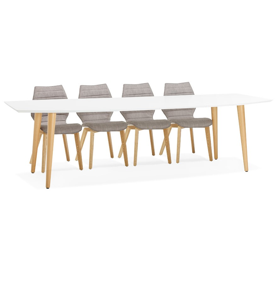 Table d ner design eskimo table extensible style for Table ronde extensible scandinave