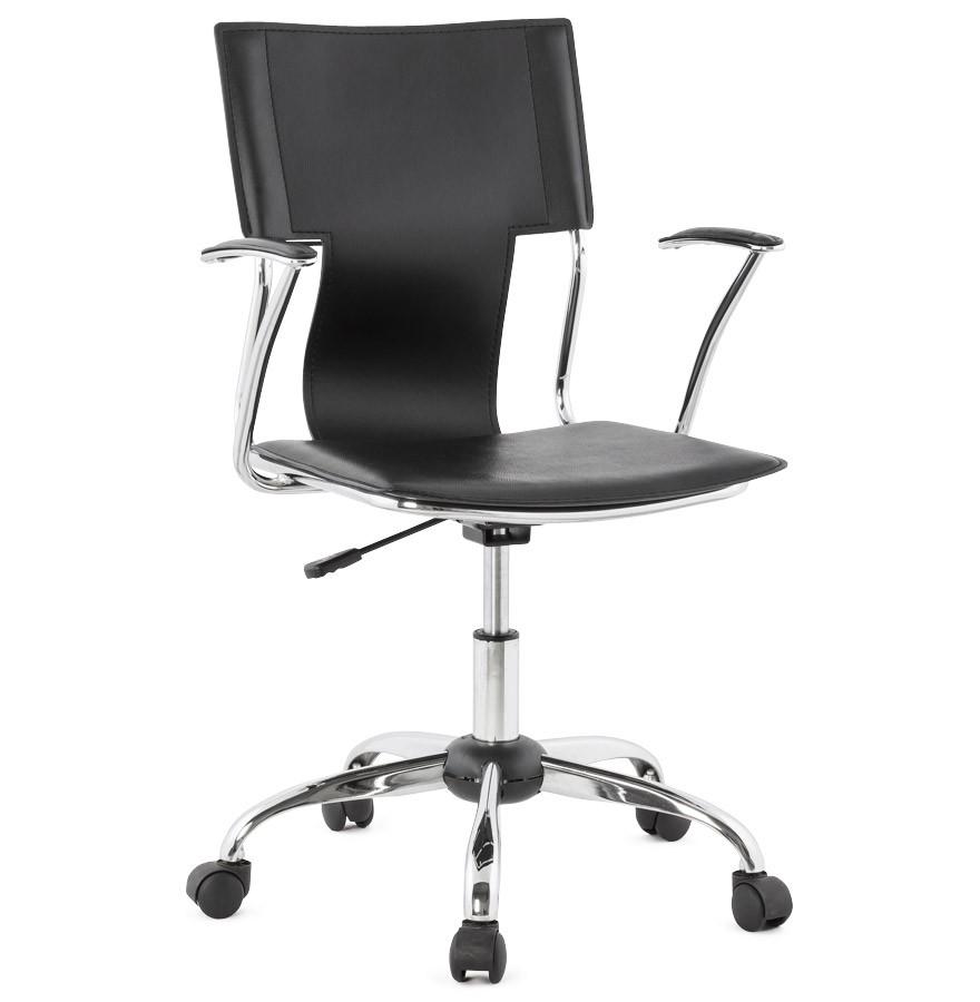 fauteuil de bureau evo noir sur roulettes. Black Bedroom Furniture Sets. Home Design Ideas