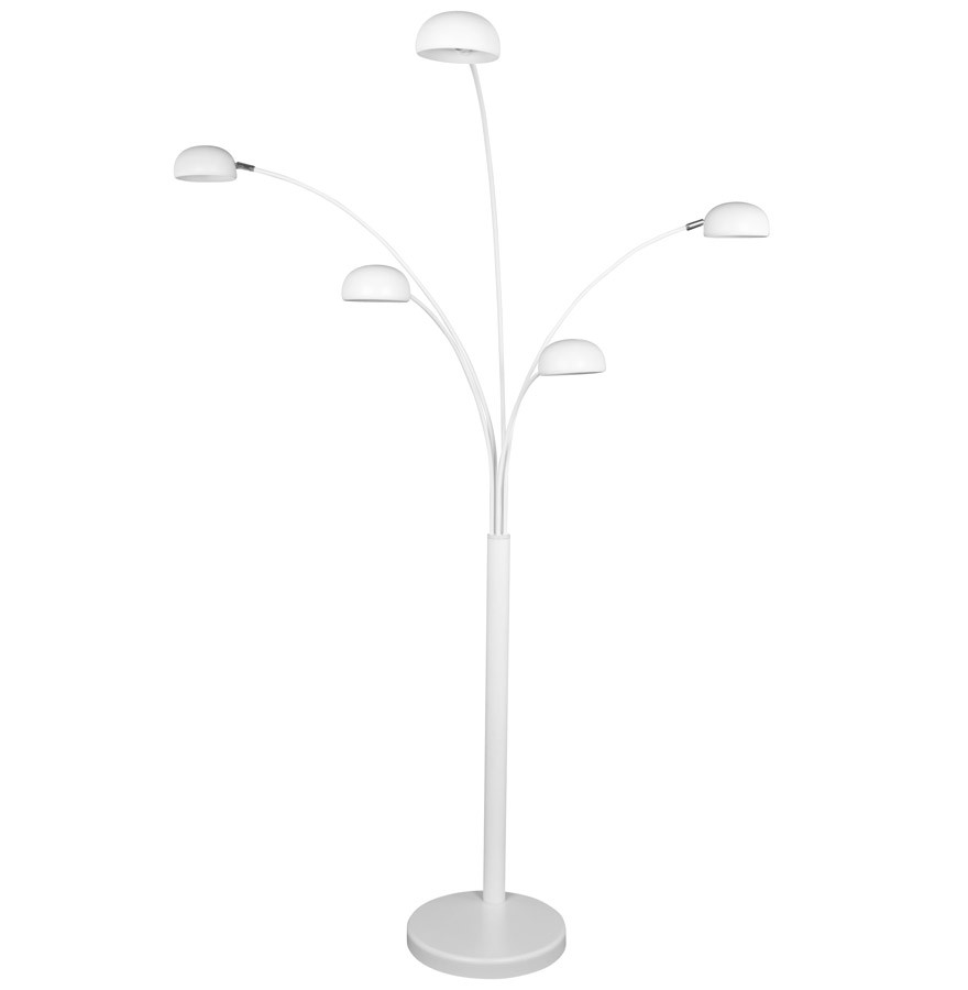 Lampadaire 5 branches five bows blanc lampadaire design - Lampadaire 5 branches ...