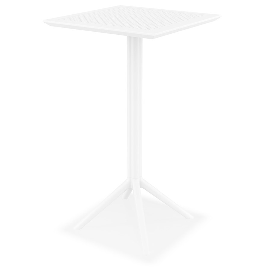table haute pliable foly blanche pour int rieur et ext rieur. Black Bedroom Furniture Sets. Home Design Ideas
