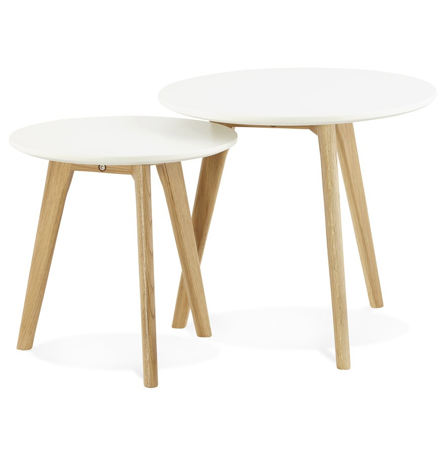 table gigogne ronde gaby au design scandinave table d. Black Bedroom Furniture Sets. Home Design Ideas