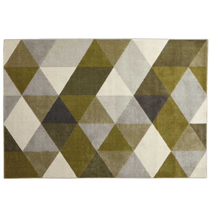 tapis design grafik grand tapis de salon aux tons verts. Black Bedroom Furniture Sets. Home Design Ideas