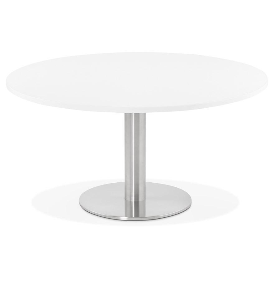 Table Basse Design Houston Blanche 90 Cm Table Lounge