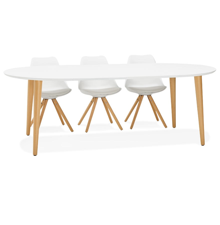 Table d ner ronde extensible iglou style scandinave for Table ronde design scandinave