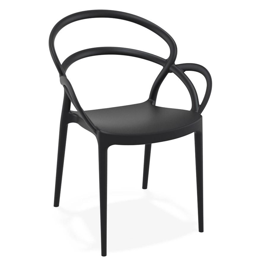 chaise de terrasse juliette design noire - Chaise Noire Design